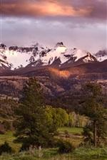 Colorado, montanhas san juan, floresta, eua