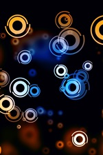 Preview iPhone wallpaper Colorful circles, spots, light