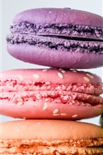 Preview iPhone wallpaper Colorful macaroons, almond biscuits