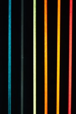 Preview iPhone wallpaper Colorful neon lights, lines