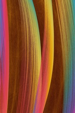 Preview iPhone wallpaper Colorful vertical lines, abstract design