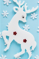Preview iPhone wallpaper Creative art, deer, snowflakes, texture