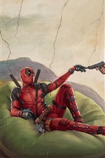 Preview iPhone wallpaper Deadpool 2, art picture