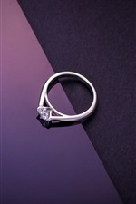 Preview iPhone wallpaper Diamond ring, purple black background