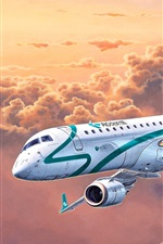 Preview iPhone wallpaper Embraer ERJ 190 passenger plane