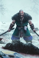 Preview iPhone wallpaper Expeditions: Viking, berserk, man, axe, death, blood