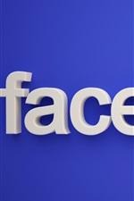 Logotipo do Facebook, fundo azul