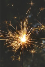 Fireworks, sparks, holiday