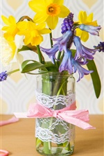 Preview iPhone wallpaper Flowers, hyacinth, daffodils