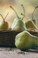 iPhone fondos de pantalla Fruta, peras verdes