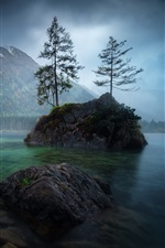 Preview iPhone wallpaper Germany, Bayern, lake, mountains, trees, stones