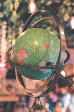 Preview iPhone wallpaper Globe of earth, map