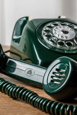 Preview iPhone wallpaper Green telephone
