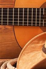 Chapéu, corda, guitarra