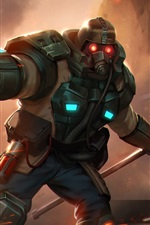 Preview iPhone wallpaper Heroes of Newerth, gas mask, warrior