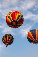 Preview iPhone wallpaper Hot air balloons, sky, clouds