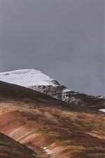 Iceland, Akureyri, mountains, slope, snow