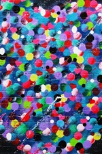 Preview iPhone wallpaper Love hearts graffiti wall, colorful, art painting