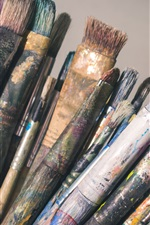 Preview iPhone wallpaper Many painting brushes