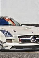 Preview iPhone wallpaper Mercedes-Benz sports car front view