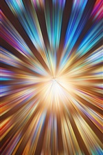 Multicolored light lines, abstract