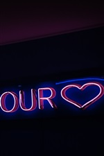 Preview iPhone wallpaper Neon inscription, text, signboard, night