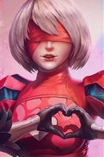 Preview iPhone wallpaper Nier: Automata, short hair girl