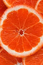 Preview iPhone wallpaper Orange slices, fruit