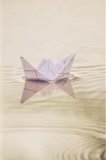 Paper boat, toy, water