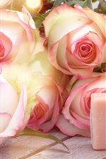 Preview iPhone wallpaper Pink roses, soap