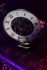 Preview iPhone wallpaper Pocket watch, book, pen