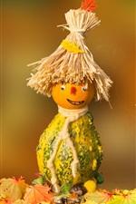 Pumpkin, scarecrow