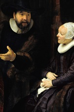 Rembrandt, Preacher Anslo and His Wife, painting