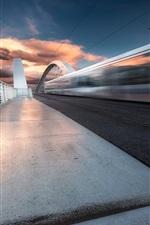 iPhone fondos de pantalla Ródano-Alpes, puente, tren, velocidad, Lyon, Francia