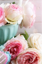 Preview iPhone wallpaper Roses, love heart, romantic