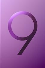 iPhone fondos de pantalla Logotipo de Samsung Galaxy S9, estilo violeta
