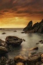 Spain, Asturias, sea, coast, stones