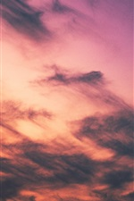 iPhone fondos de pantalla Cielo al atardecer, nubes