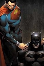 Preview iPhone wallpaper Superman, Batman, Wonder Woman, comic art picture