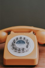 Preview iPhone wallpaper Telephone apparatus, retro style, dial board