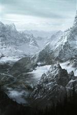 The Elder Scrolls V: Skyrim, montanhas, imagens de arte