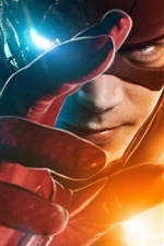 Preview iPhone wallpaper The Flash, hero, hand