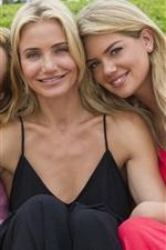 Three blonde girls, smile