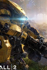 Preview iPhone wallpaper Titanfall 2, robot, gun