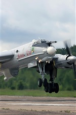 Preview iPhone wallpaper Tupolev Tu-142MP aircraft take off