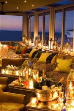 Preview iPhone wallpaper Twelve Apostles Hotel, champagne, lights, glass cups, Australia