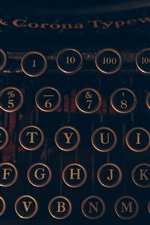 Preview iPhone wallpaper Typewriter, letters and numbers