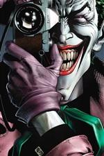 Preview iPhone wallpaper Villain, joker, teeth, camera, DC Comics