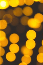 Preview iPhone wallpaper Yellow glare circles, bright light