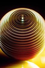 Volume de bola 3D, sombra, luz